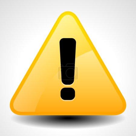 Illustration pour Avertissement jaune et orange, attention, signe de prudence. Panneau routier avec point d'exclamation, point d'exclamation . - image libre de droit