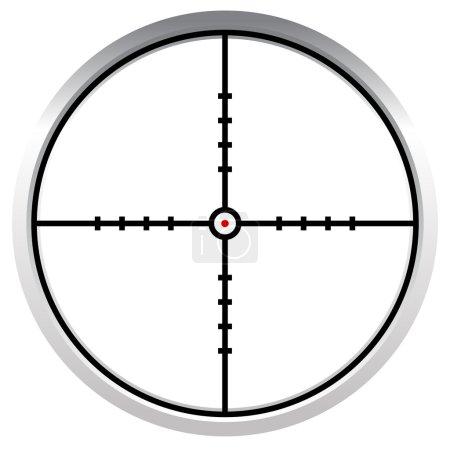 Crosshair, reticle, target mark
