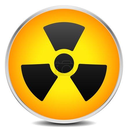 radiation, radioactivity sign.