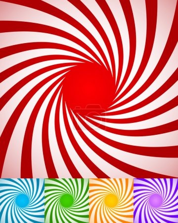 Abstract spirally backgrounds