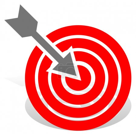Arrow in red target icon