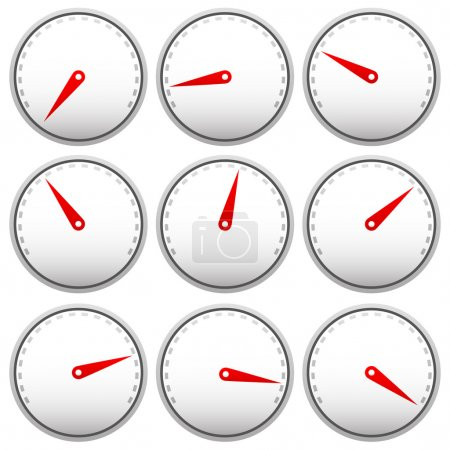 Dial faces with pointer set