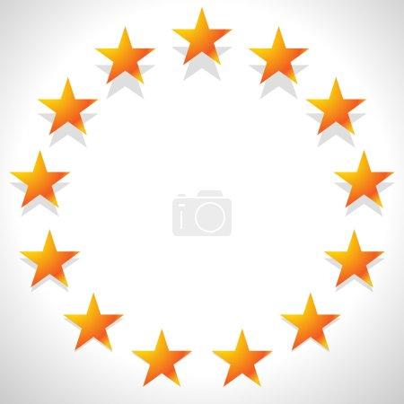 Étoiles jaunes en cercle