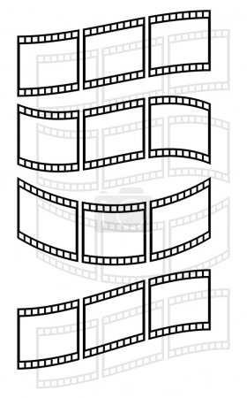 Filmstrips, film tapes icons