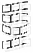 Filmstrips film tapes icons