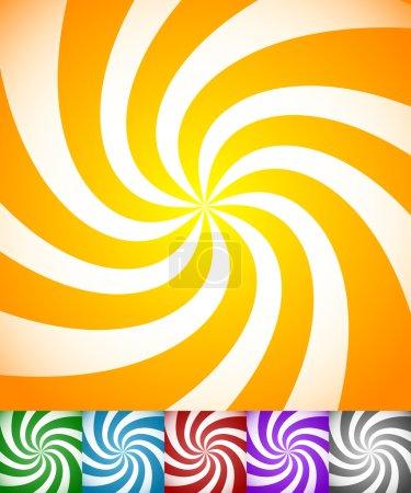 swirling, rotating  stripe patterns