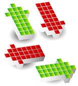 Set of  cube arrows
