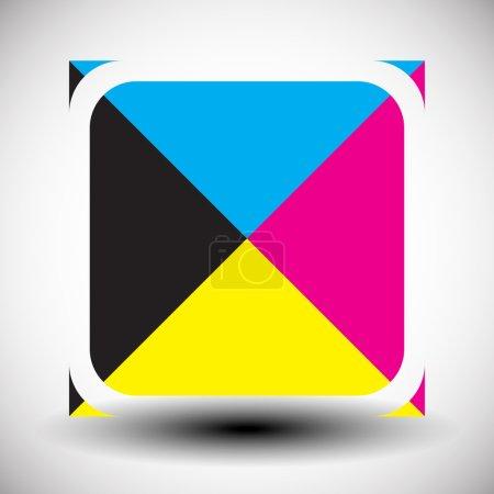 Cmyk icon.  printing concept
