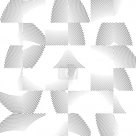 Wavy lines repeatable pattern.