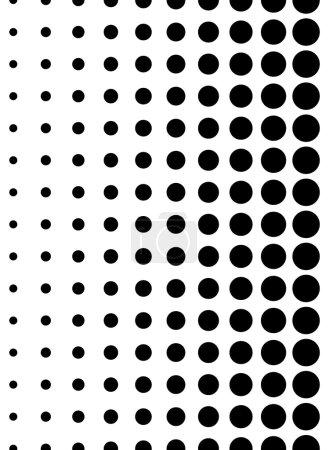 Illustration pour Motif pointillé. Verticalement sans couture. Pois, fond demi-teinte . - image libre de droit