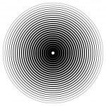 Abstract circle element. Concentric circles, rippl...