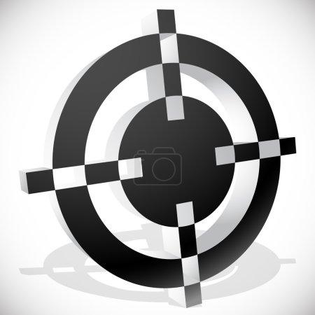 Black and white target mark, aim