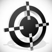 Black and white target mark aim