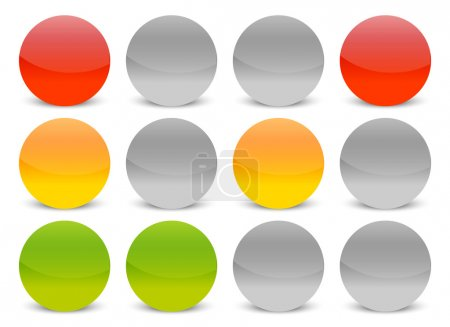 Traffic lights icons set