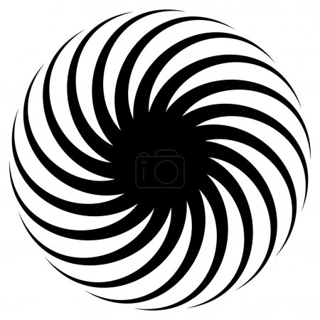 Abstract spirally shape