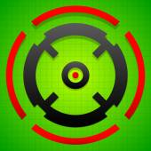 Targetmark crosshair reticle symbol on green gridded background
