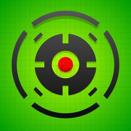 Targetmark, crosshair, reticle symbol