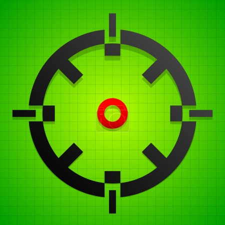 Targetmark, crosshair, reticle symbol