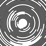 Concentric segments of circles, random lines follo...