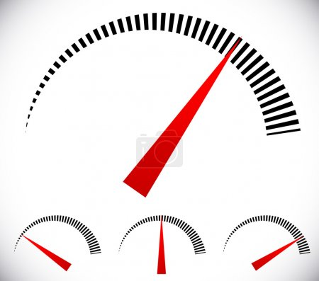 Pressure gauge,  dial template set