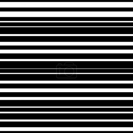 Illustration for Straight horizontal lines pattern, parallel lines. Horizontally seamless. - Royalty Free Image