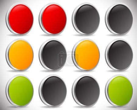 Traffic lamps, traffic lights set