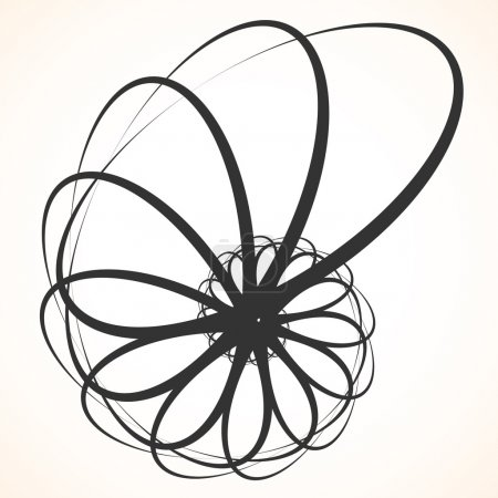 Abstract circular spinning element.