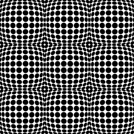 Abstract distortion circles background