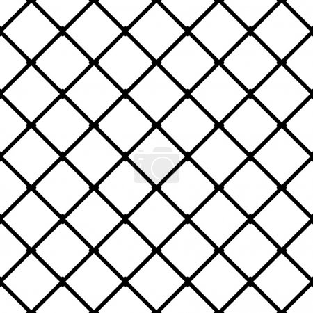 Interconnected squares seamless pattern.