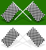 Crossed checkered racing flags