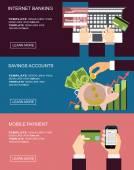 Internet banking concepts set