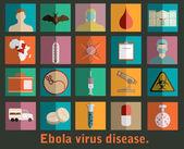 Ebola virus flat style icons