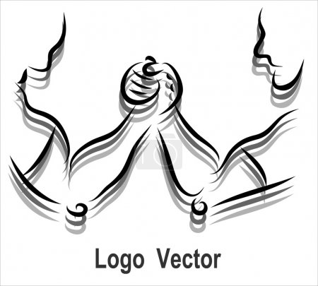 Arm wrestling logo icon
