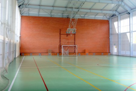 View across in indoor sports court