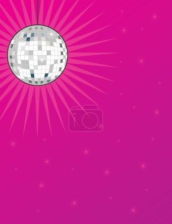 Une boule disco brillante