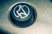 Modře tónovaný makro černá klávesnice
