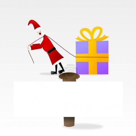 Photo for Santa claus with a gift. - Royalty Free Image