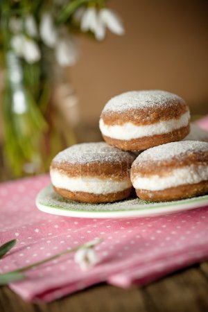 Photo for Raw and vegan version of traditional berliner dessert - Royalty Free Image