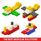 Toy Block Ship Plane Games Isometric
