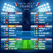 Cup EURO 2016 Final Schedule