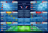 Cup EURO 2016 final tournament schedule Football European Championship Soccer final qualified countries France Europe matches group stage participating teams 3D vector Icon JPG JPEG Picture Image Graphic AI Illustration  EPS infographic
