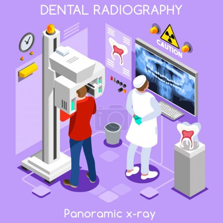 Clinic dental panoramic teeth x ray radiography oral imaging dental centre dentist and patient.