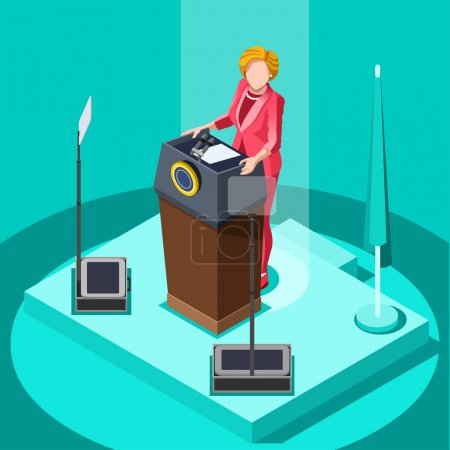 Election Infographic Politic Work Vector Isometric People v