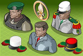 Isometric Foreign Legion Militar People