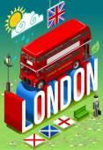 London-Doppeldecker-Postkarte