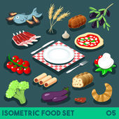 A Lot on my Plate Modular Food Elements Street Food Diet NEW lively palette 3D Flat Vector Icon Set Isometric Restaurant Fastfood Bistro Infographic Concept Web Template