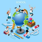 School Set 02 People Isometric