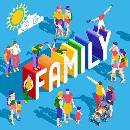 Rainbow Family People Isometric