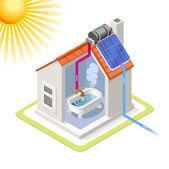 Energy Chain 06 Building Isometric