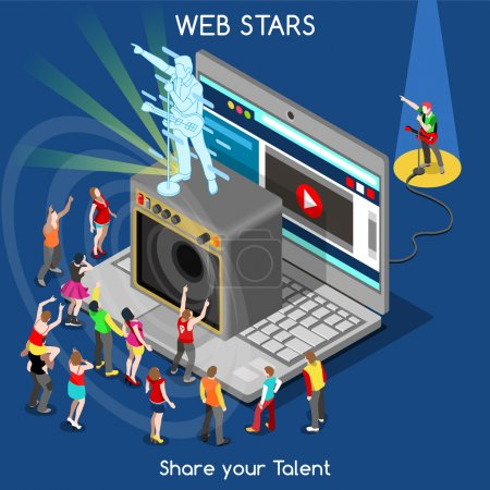 Webstars 01 ludzi izometryczny